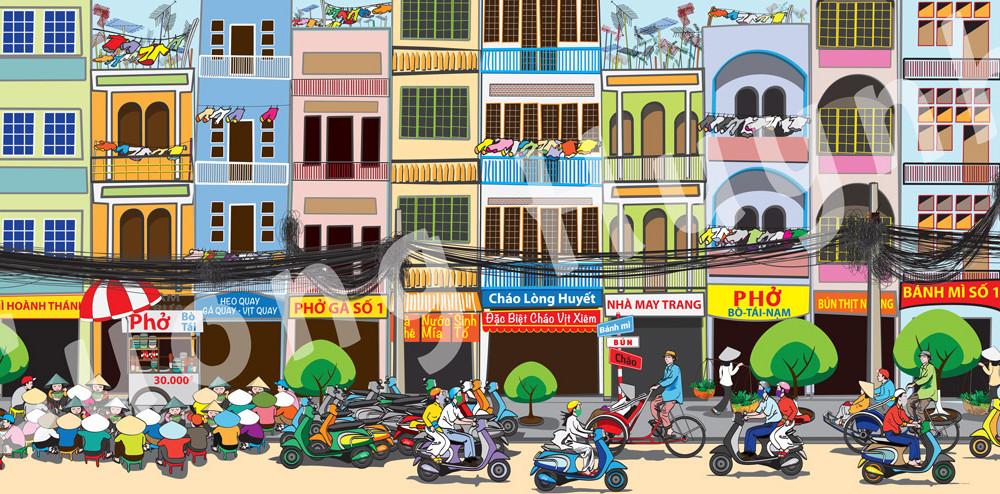 Saigon Street Food Scene #1 right