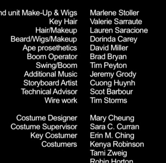 Storyboard credits - Cuong Huynh - Miss Cast Away and The Island Girls (2004)