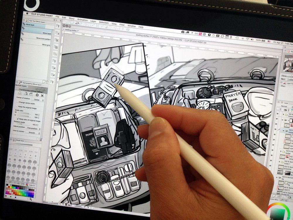 Drawing Amazon Jack Ryan storyboards