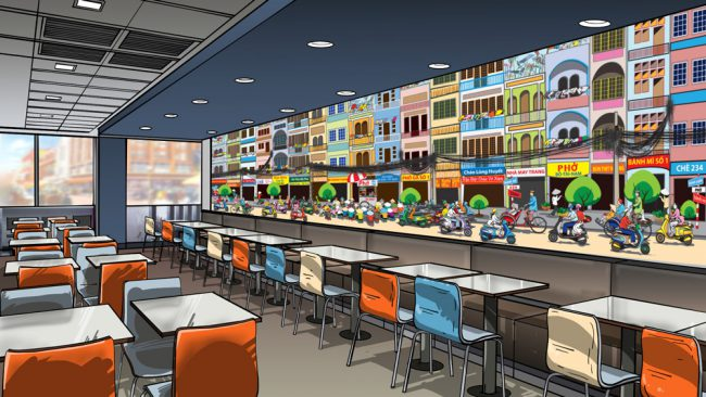 Wall mural mockup3 - Saigon street food