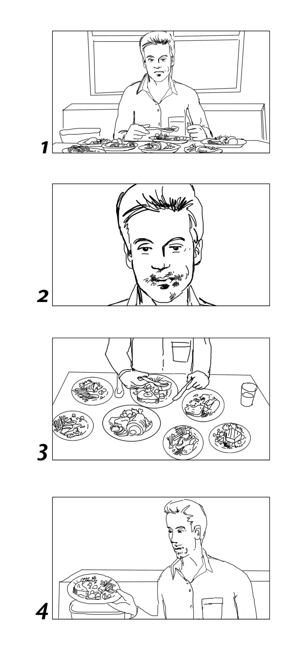 konsumheld food waste storyboards portfolio1