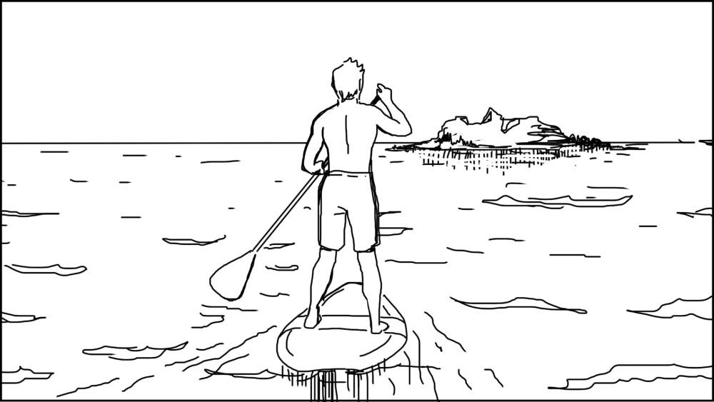 Paddle board storyboard-2