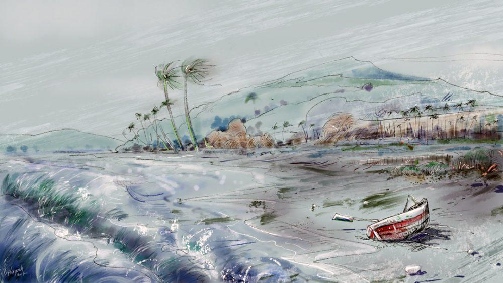 Abandoned - Digital painting by Cuong Huynh Storyboard Artist
