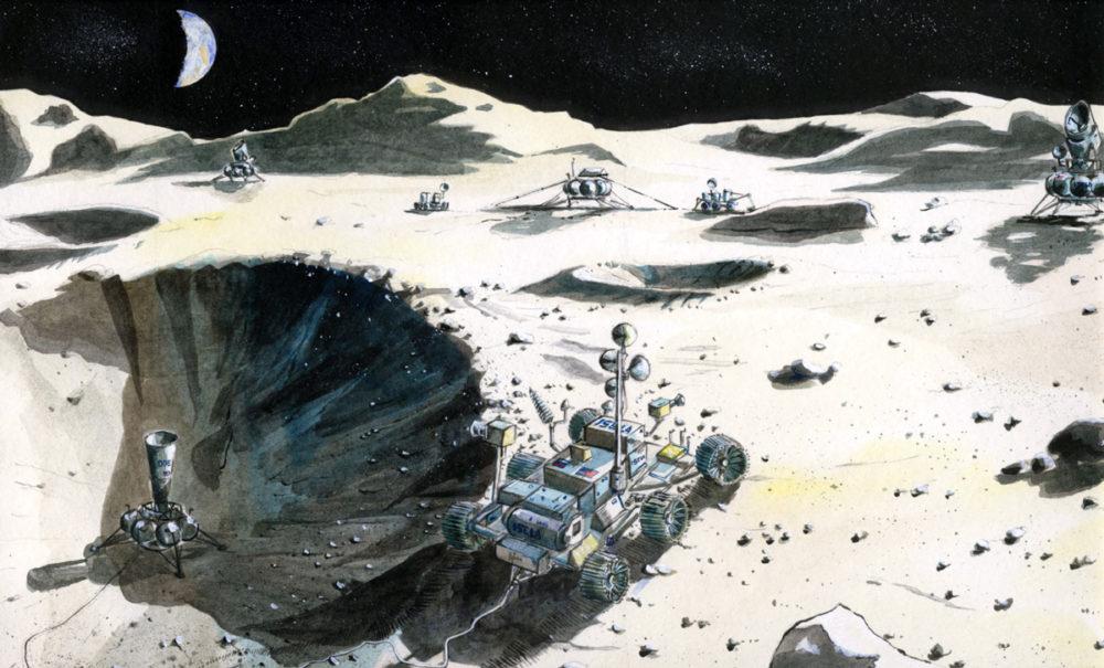 Conceptual illustration: ISELA moon rover