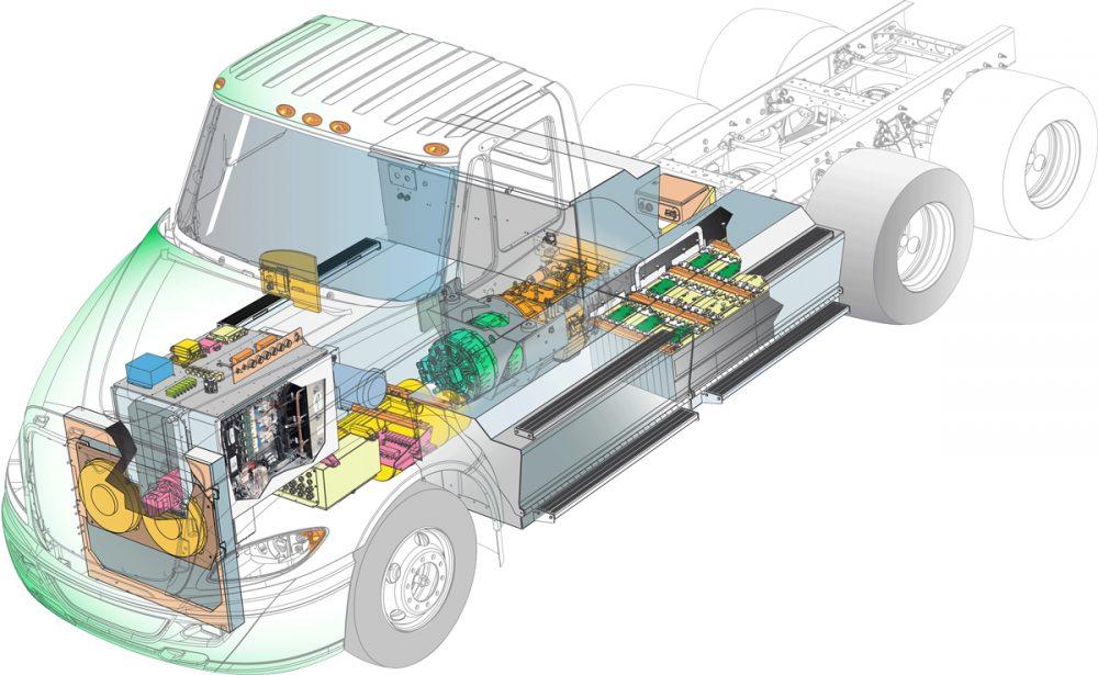 Transpower ElecTruck: full electric drive train
