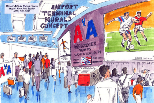 World Cup event concept-airport terminal murals