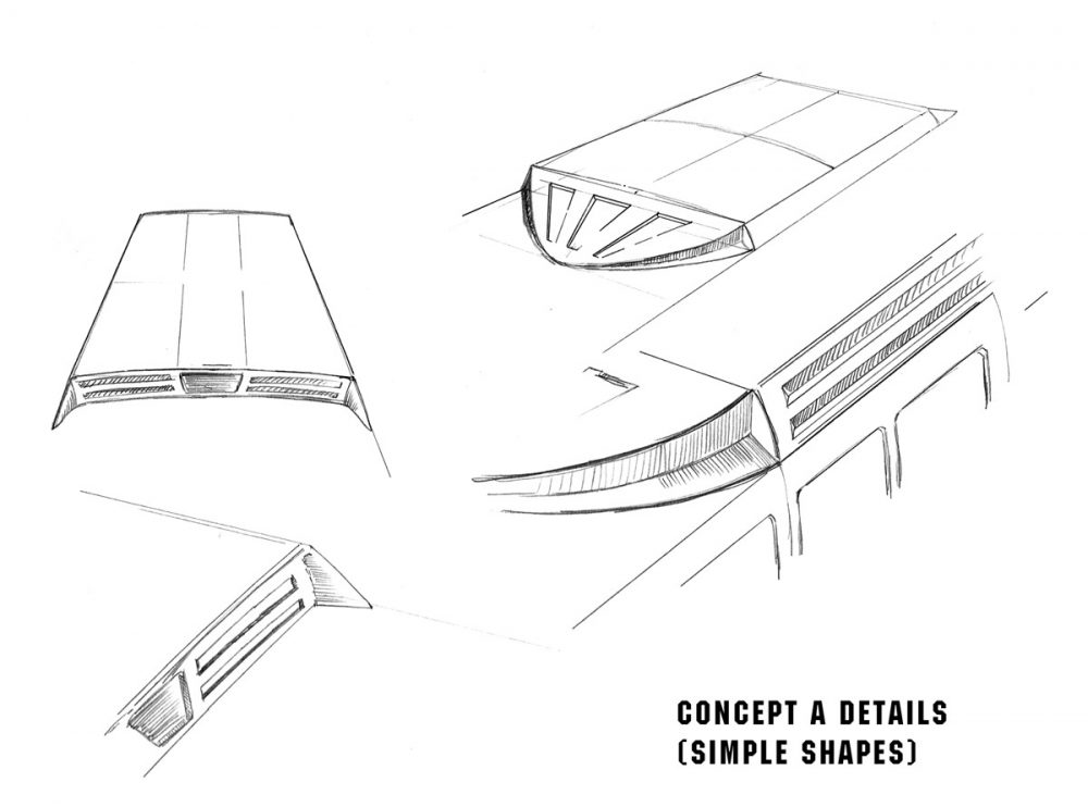 Hybrid bus rooftop concept A-Detail