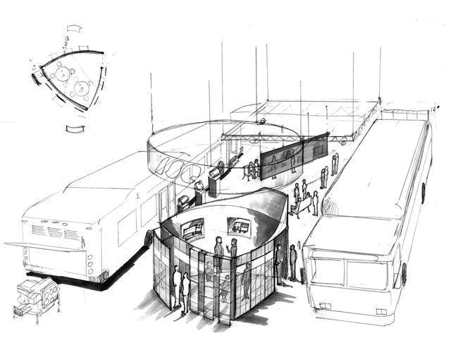 Trade show exhibit conceptual design: ISE APTA 2005-6