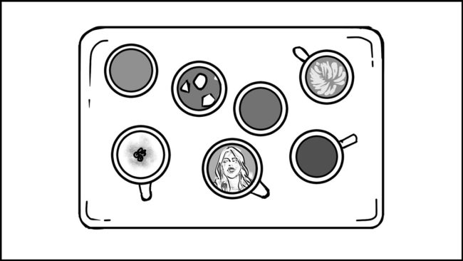 Ninja Coffee Bar 2 commercial storyboard portfolio-10B