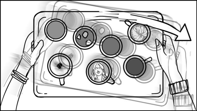 Ninja Coffee Bar 2 commercial storyboard portfolio-10C