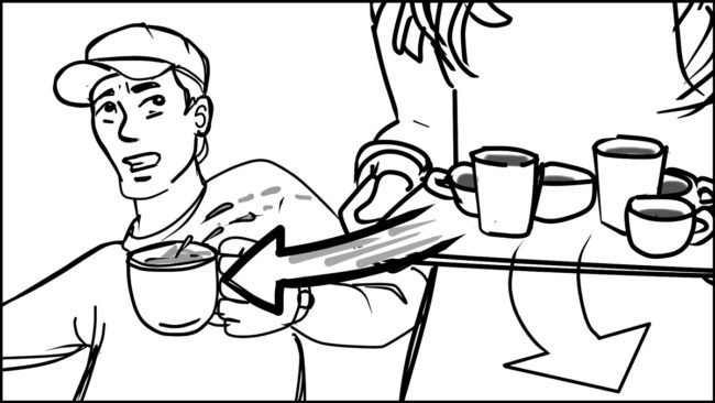 Ninja Coffee Bar 2 commercial storyboard portfolio-11B