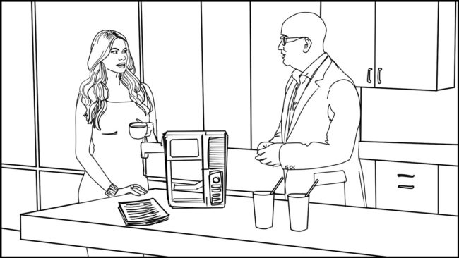 Ninja Coffee Bar 2 commercial storyboard portfolio-16