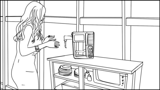 Ninja Coffee Bar 2 commercial storyboard portfolio-5