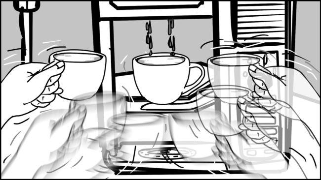 Ninja Coffee Bar 2 commercial storyboard portfolio-9G