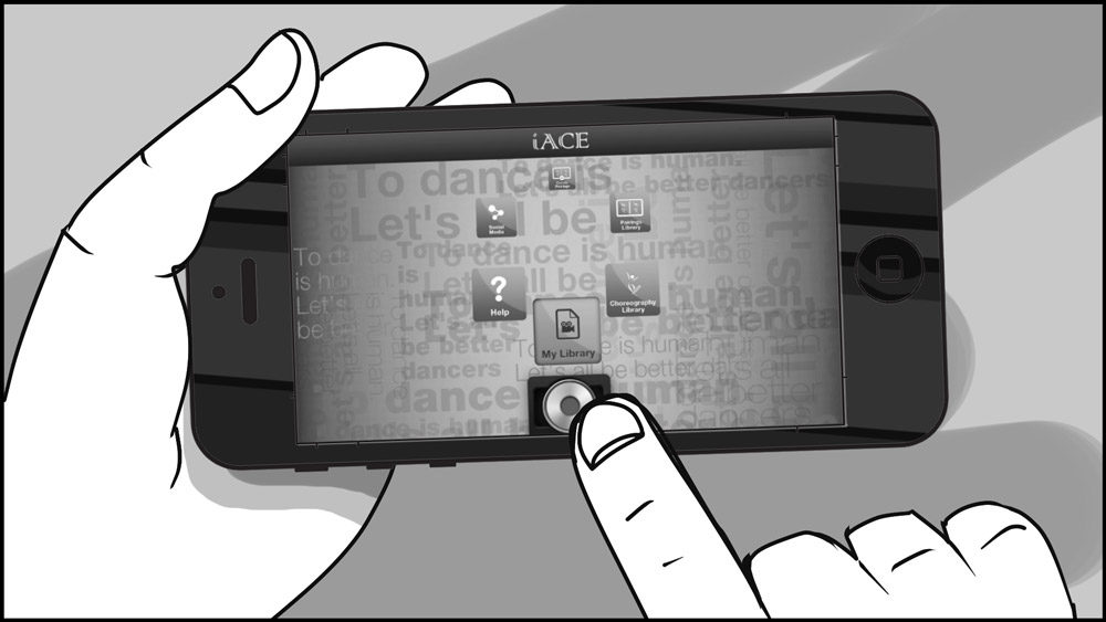 iACE dance app storyboard portfolio-1