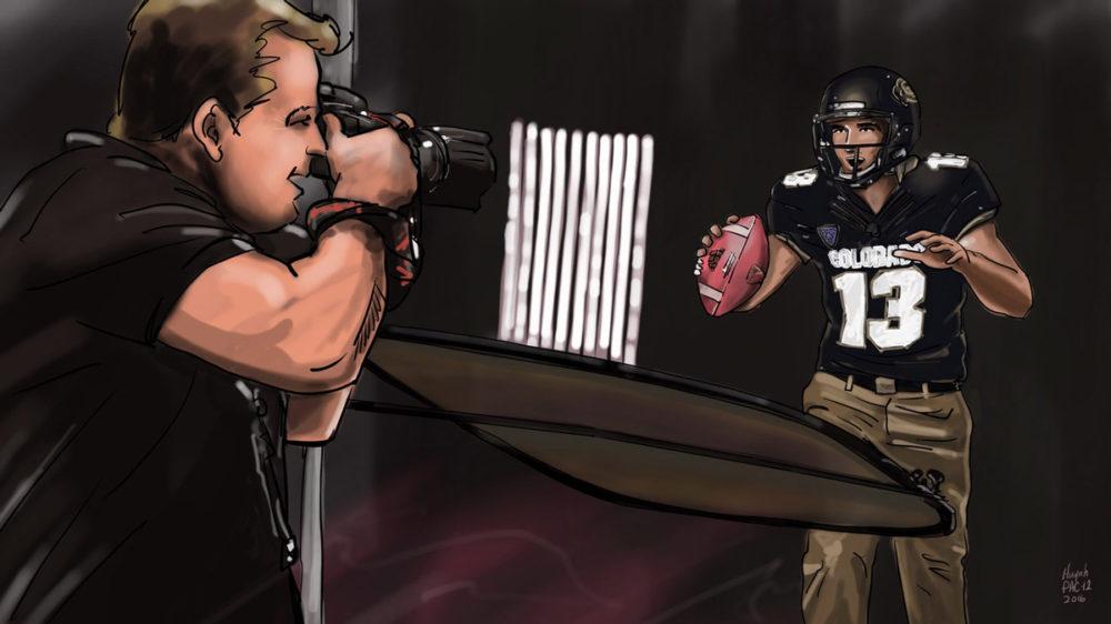 Pac-12 Colorado quarterback shooting session
