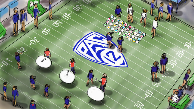 Pac-12 Field activities high shot