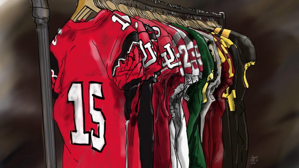Pac-12 Uniform rack