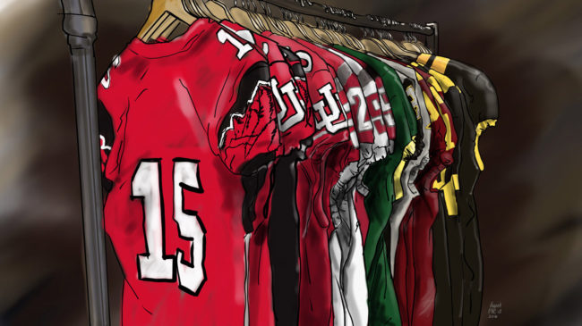 Pac-12 Uniform rack