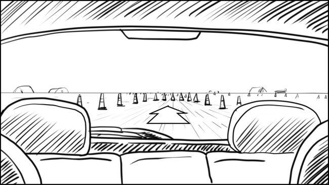 Australian Best Celebrity Driver ABCD storyboard portfolio-14B