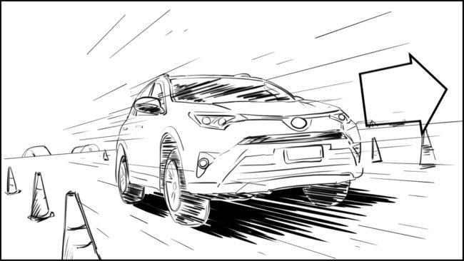 Australian Best Celebrity Driver ABCD storyboard portfolio-16