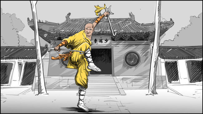 Shaolin kung fu monk-1