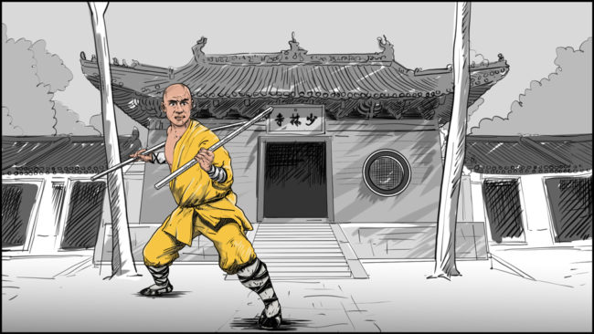 Shaolin kung fu monk-10
