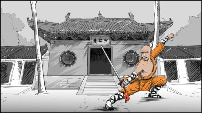 Shaolin kung fu monk-13