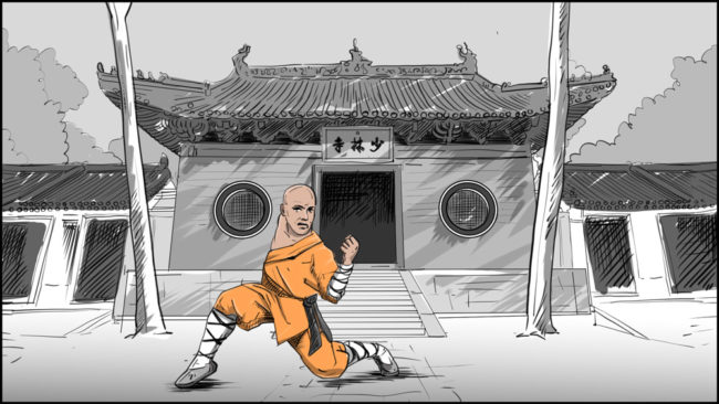 Shaolin kung fu monk-2