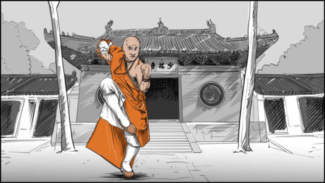 Shaolin kung fu monk-4