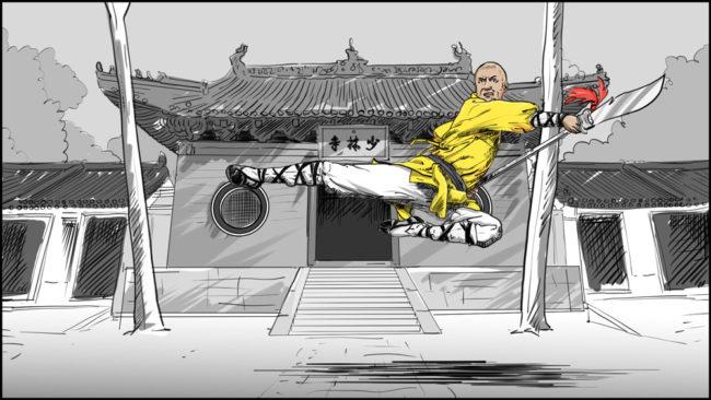 Shaolin kung fu monk-6