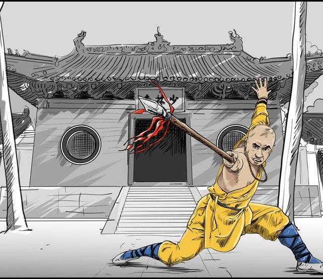 Shaolin kung fu monk-7