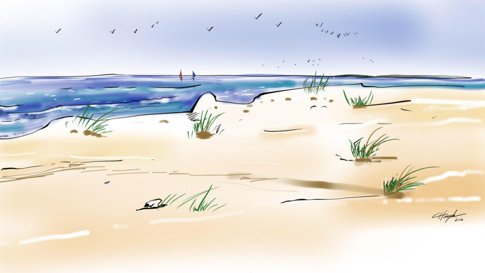 Empty Beach - Digital painting by Cuong Huynh Storyboard Artist