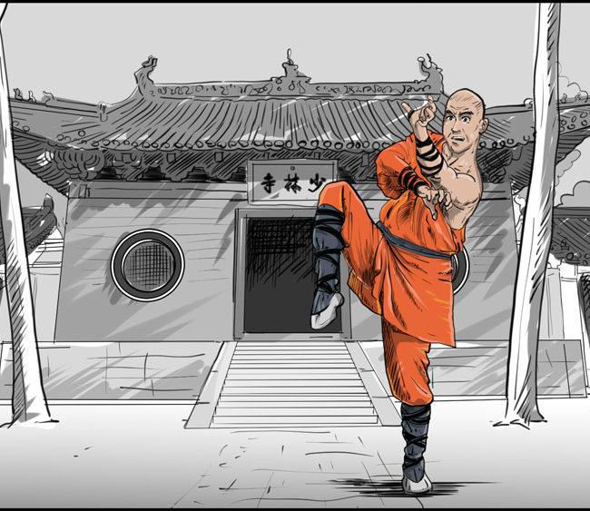 Shaolin kung fu monk-5