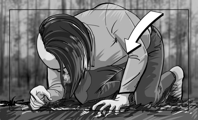 Hunger Pains storyboard portfolio-50C