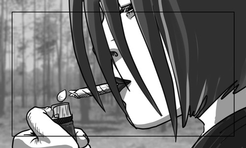 Hunger Pains storyboard portfolio-featured
