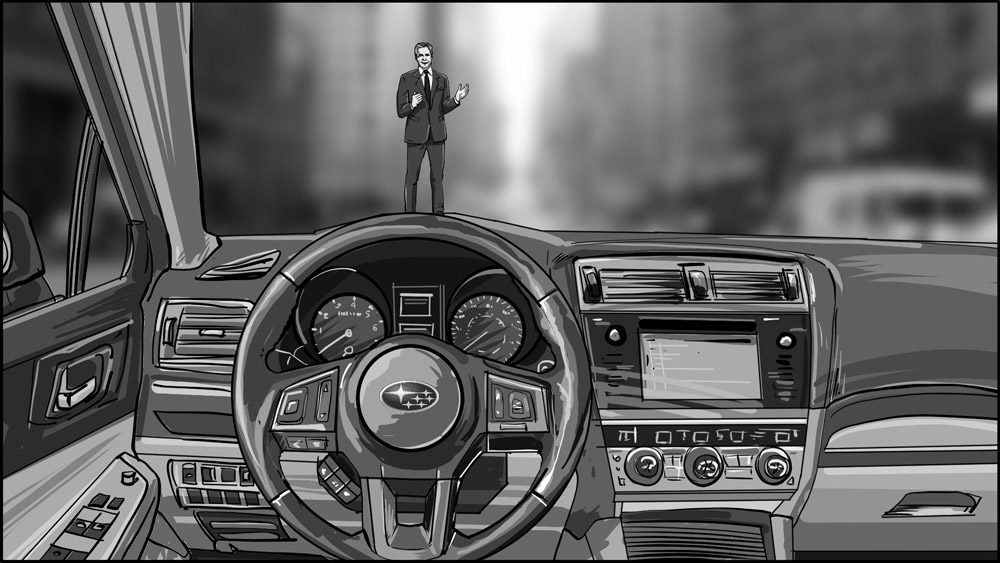 Subaru car commercial storyboard portfolio-1A