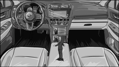 Subaru commercial storyboard portfolio-featured
