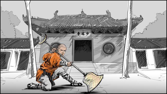 Shaolin kung fu monk-9