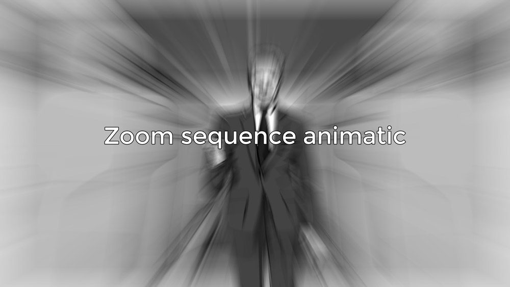 Zoom sequence animatic