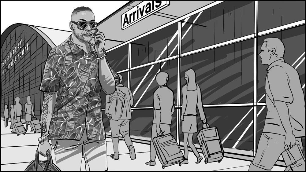 Don Omar music video storyboard portfolio-1
