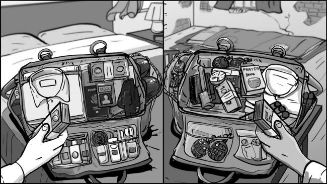 Jack Ryan-Dueling Duffles storyboards-1