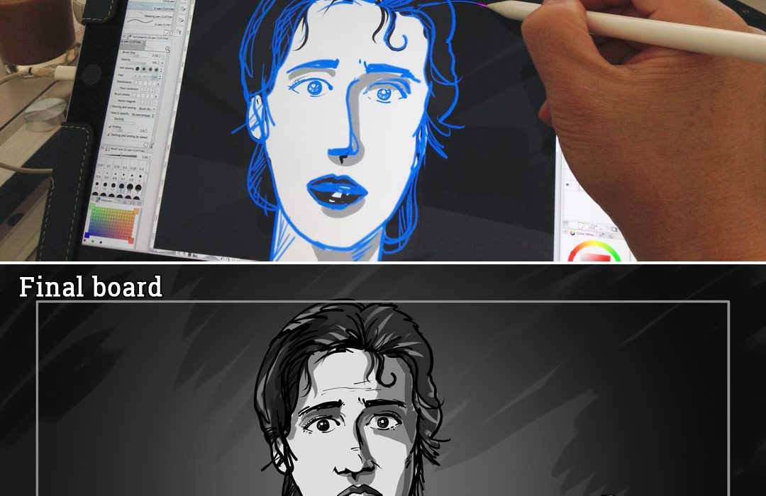 Drawing Hunger Pains storyboard