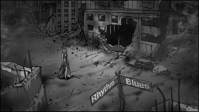 Music album promo video storyboards-2A
