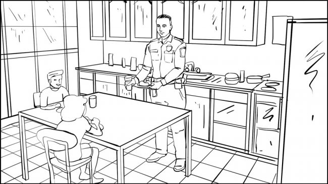 Don Omar music video border patrol storyboard portfolio-1