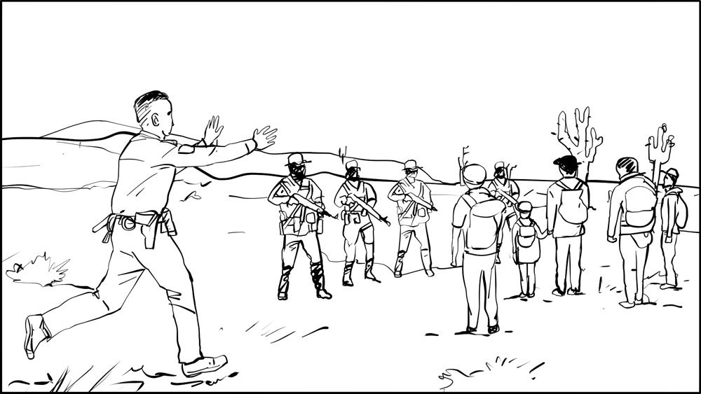 Don Omar music video border patrol storyboard portfolio-2