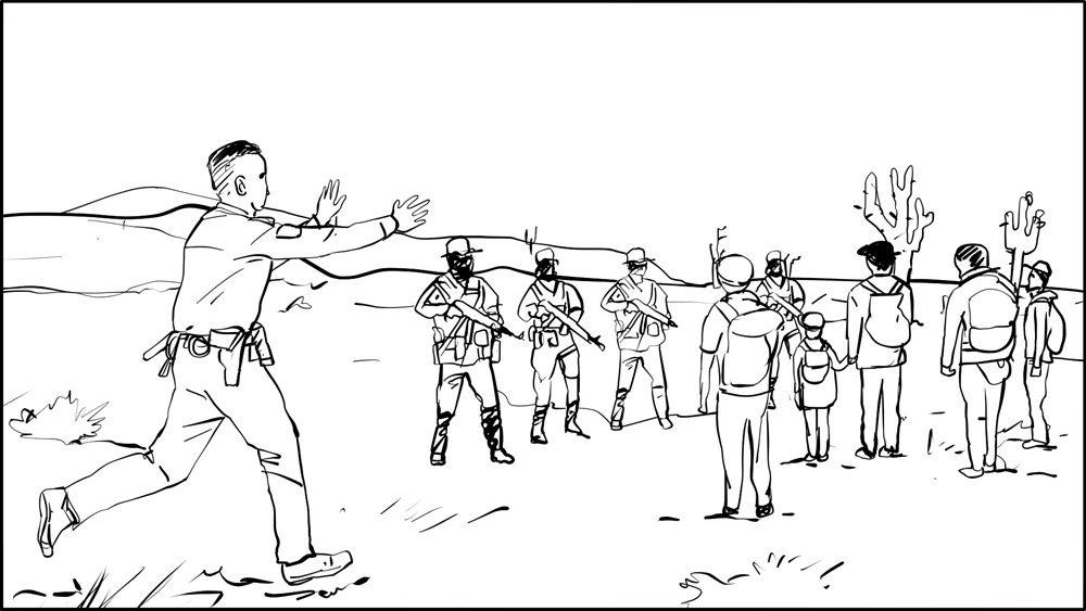 Don Omar music video border patrol storyboard portfolio-2