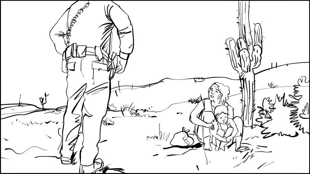 Don Omar music video border patrol storyboard portfolio-3