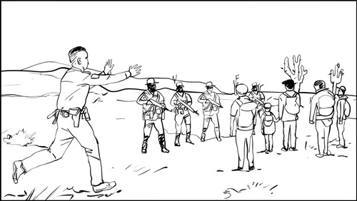 Don Omar music video border patrol storyboard portfolio-featured