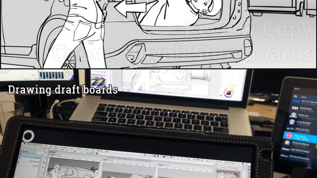 Drawing Mitsubishi Outlander commercial spot